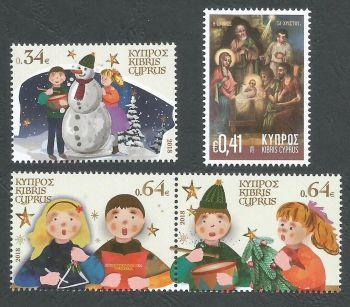 Cyprus Stamps SG 1446-49 2018 Christmas 2018 - MINT
