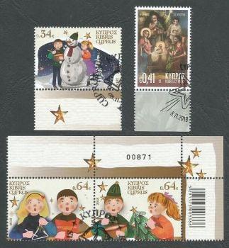 Cyprus Stamps SG 1446-49 2018 Christmas 2018 - CTO USED (k802)