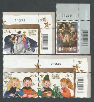 Cyprus Stamps SG 1446-49 2018 Christmas 2018 - Control numbers MINT