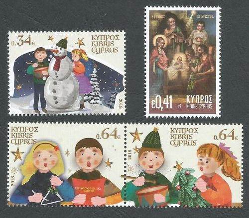 Cyprus Stamps SG 2018 Christmas stamps set of 4 stamps - MINT