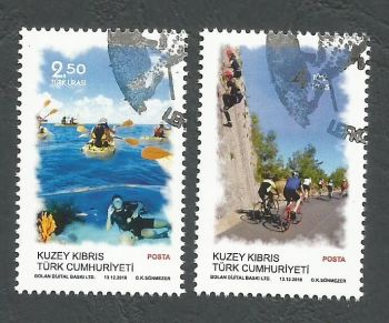 North Cyprus Stamps SG 2018 (f) Outdoor Sports - CTO USED (k805)