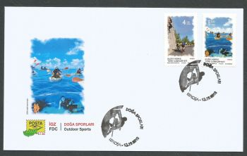 North Cyprus Stamps SG 2018 (f) Outdoor Sports - Official FDC