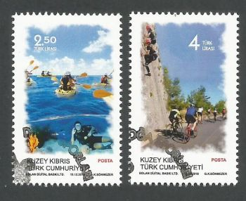 North Cyprus Stamps SG 2018 (f) Outdoor Sports - CTO USED (k807)