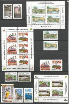 North Cyprus Stamps  2018 Complete Year Set - MINT