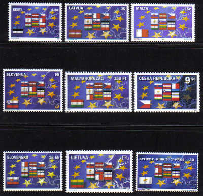 European Union 2004 Admission Incomplete set (missing Poland) - MINT (d541)