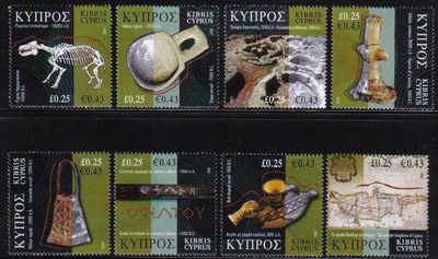 Cyprus Stamps SG 1137-44 2007 Cyprus through the ages - Part 1 MINT (d533)