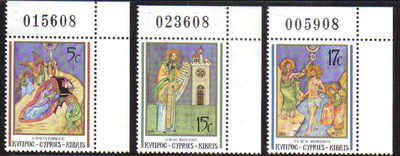 Cyprus Stamps SG 808-10 1991 Christmas - MINT (d522)