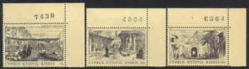 Cyprus Stamps SG 628-30 1984 Old Engravings - Control nunbers MINT (e954)