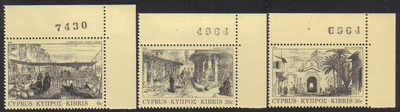 Cyprus Stamps SG 628-30 1984 Old Engravings - MINT (d488)