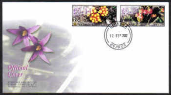 Cyprus Stamps Vending Machine Labels Type E 2002 (007) Larnaca - Official FDC (d552)