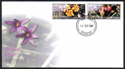 Cyprus Stamps Vending Machine Labels Type 6 2002 007 Larnaca - Official FDC