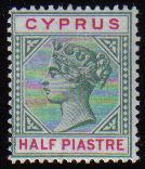 Cyprus Stamps SG 040 1896 Half Piastre - MLH (d618)