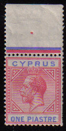 Cyprus Stamps SG 089 1921 One Piastre King George V - MINT (d615)