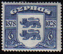 Cyprus Stamps SG 128 1928 Six Piastres - MLH (d609)
