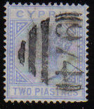 Cyprus Stamps SG 013 1881 Two Piastres - USED (d616)
