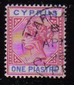 Cyprus Stamps SG 042 1896 One Piastre - USED (d607)