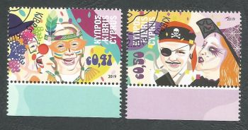 Cyprus Stamps SG 2019 (a) Carnival - CTO USED (k808)