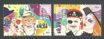 Cyprus Stamps SG 2019 (a) Carnival - MINT