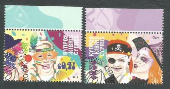 Cyprus Stamps SG 2019 (a) Carnival - CTO USED (k809)