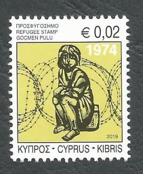 Cyprus Stamps 2019 Refugee Fund Tax stamp reprint