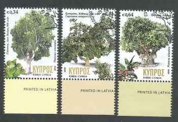 Cyprus Stamps SG 2019 (b) Centennial trees in Cyprus - CTO USED (k820)