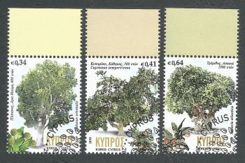 Cyprus Stamps SG 2019 (b) Centennial trees in Cyprus - CTO USED (k821)