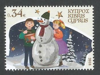 Cyprus Stamps SG 1446 2018 34c Christmas - MINT