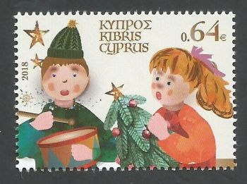 Cyprus Stamps SG 1449 2018 64c Christmas Drum - MINT