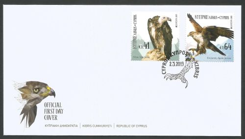 Cyprus Stamps SG 2019 (d) Europa National Birds - Official FDC