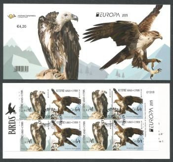 Cyprus Stamps SG 2019 (d) Europa National Birds - Booklet CTO USED (k842)