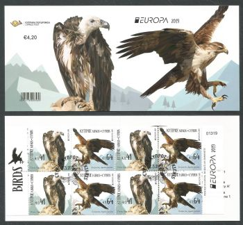 Cyprus Stamps SG 2019 (d) Europa National Birds - Booklet CTO USED (k843)