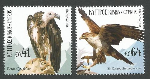 Cyprus Stamps SG 2019 EUROPA National Birds