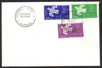 Cyprus Stamps SG 206-08 1962 Europa Doves - Unofficial FDC (c450)