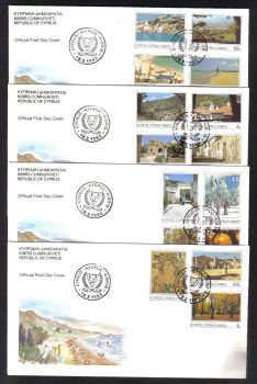 Cyprus Stamps SG 648-62 1985 6th Definitives Pictorial Scenes - Official FDC