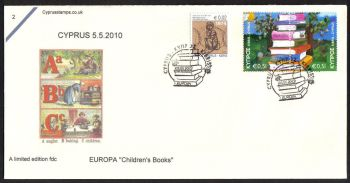 Cyprus Stamps SG 1219-20 2010 Europa Childrens books - Cachet Unofficial FDC (c693)