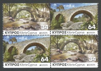 Cyprus Stamps SG 2018 (e) Europa Bridges Booklet Pane - MINT