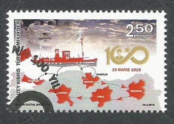 North Cyprus Stamps SG 2019 (c) Centenary of National Struggle - CTO USED (k870)