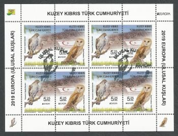 North Cyprus Stamps SG 2019 (e) Europa National Birds - Souvenir sheet CTO USED (k886)