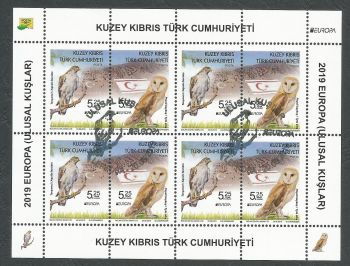 North Cyprus Stamps SG 2019 (e) Europa National Birds - Souvenir sheet CTO USED (k885)