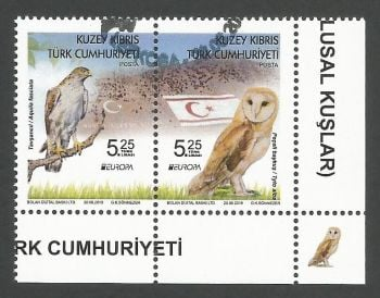 North Cyprus Stamps SG 2019 (e) Europa National Birds - CTO USED (k881)