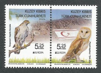 North Cyprus Stamps SG 2019 EUROPA National Birds - MINT