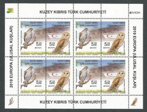 North Cyprus Stamps SG 2019 EUROPA National Birds - Souvenir Sheet