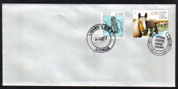 Cyprus Stamps SG 1265 2012 Refugee Fund Tax - Unofficial FDC (g011)
