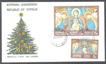 Cyprus Stamps SG 354-57 1970 Christmas - Official FDC