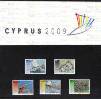 Malta Stamps SG 1622-26 2009 Cyprus XIII Small State Games of Europe Presentation Pack - MINT (D626)