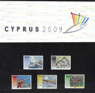 Malta Stamps SG 1622-26 2009 Cyprus XIII Small State Games of Europe Presen