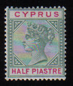 Cyprus Stamps SG 040 1896 Half piastre - MH (d632)