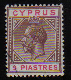 Cyprus Stamps SG 097 1922 Nine Piastres - USED (d631)