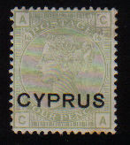 Cyprus Stamps SG 004 1880 4D Sage green - MH (d628)
