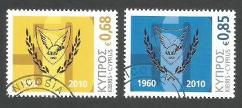 Cyprus Stamps SG 1210-11 2010 50th Anniversary of the Republic of Cyprus - USED (k905)